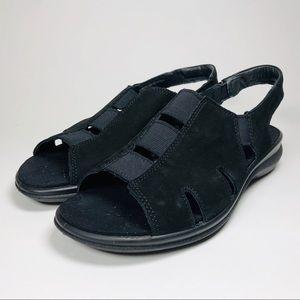 Ecco Womens Black Breeze Sandal US 6-6.5 Eur 37